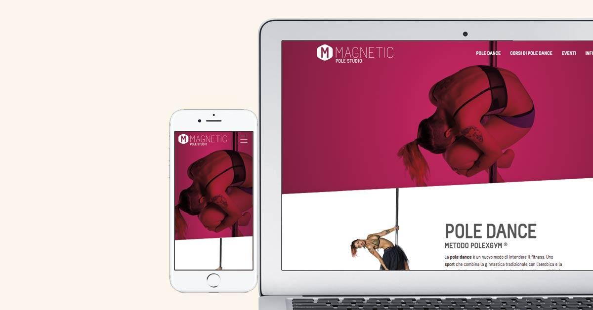Design sito web Magnetic Pole Studio